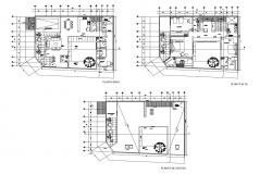 Plan of house 17.43mtr x 13.15mtr with furniture details in autocad