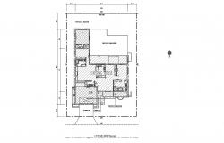 Plan of house 80'x 90' with detail dimension in dwg file