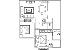 Plan of house design in autocad