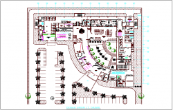 Plan of maternity hospital dwg file