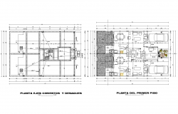 Plan of multi-family loft plan detail dwg file.