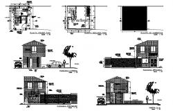 Plan of office 4.41mtr x 5.33mtr  with elevation details in dwg file
