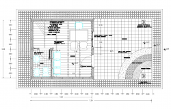 Plan of office with detailed dwg.