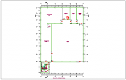 Plan of oil factory with architectural view dwg file