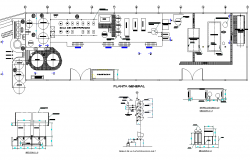 Plan of oil fish plan and section detail dwg file