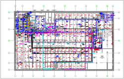 Plan of plumbing and hvac pipe line view dwg file