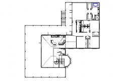 Plan of residential house with detail dimension in autocad