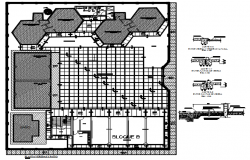 Plan of school building design in AutoCA