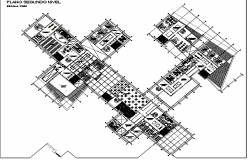 Plan of technology university with detail.