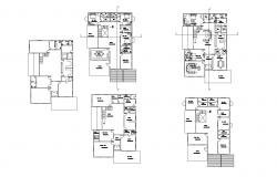 Plan of the Residential house with detail dimension in AutoCAD