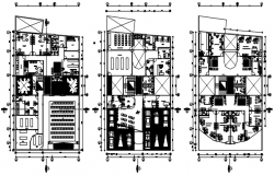 Plan of the airport with detail dimension in autocad