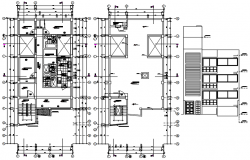 Plan of the apartment with detail dimension in dwg file