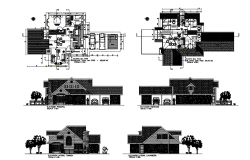 Bungalow AutoCAD Plans And Elevations