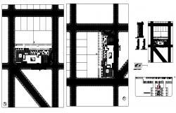 Plan of the hospital design in autocad file