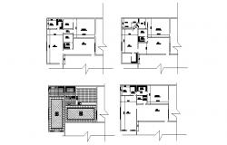 Plan of the house with detail dimension in dw file
