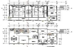 Plan of the office building with detail dimension in dwg file