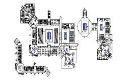 Plan of the resort with detail dimension in autocad