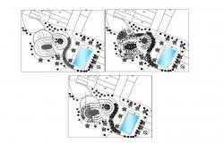 Plan of the restaurant with detail dimension in dwg file
