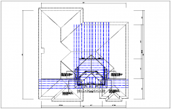 Plan view detail and roof plan projection detail dwg file