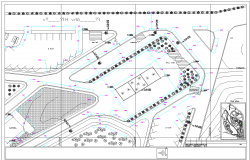 Plan view detail urban park dwg file