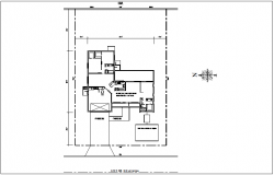 Plan view for family house dwg file