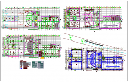 Plan view of administrative building design dwg file