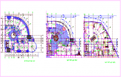 Plan view of building for commercial area dwg file
