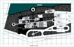 Plan view of cultural center
