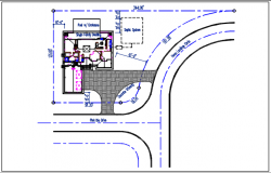 Plan view of house detail view dwg file