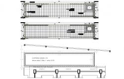 Plan water tank detail autocad file