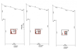 Planing house detail dwg file