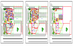 Planing of Hospital design drawing on small level