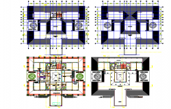 Planning Farm house dwg file
