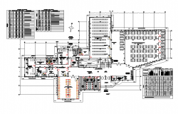 Planning Library plan autocad file