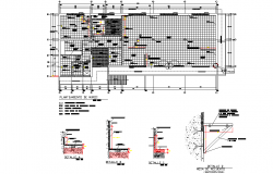 Planning bank office detail dwg file
