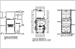 Planning commercial building detail dwg file