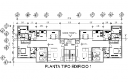 Planning department building plan detail dwg file