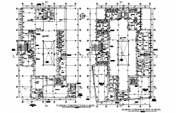 Planning first floor and second floor plan detail dwg file