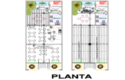 Planning home detail dwg file