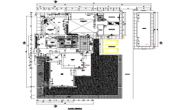 Planning hotel 3 stars plan detail dwg file