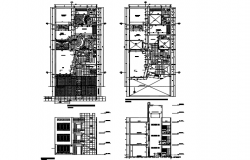 Planning house detail dwg file