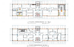 Planning institutional plan detail dwg file