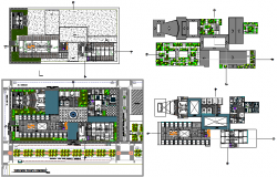 Planning layout office complex detail dwg file