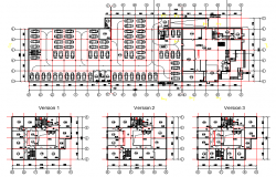 Planning office detail dwg file