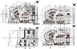 Planning office plan detail dwg file