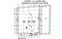 Planning plot layout detail dwg file