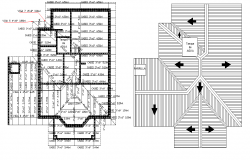 Planning roof plan detail autocad file