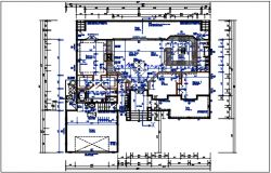 Planning with ground floor and terriers plan and cut out plan dwg file