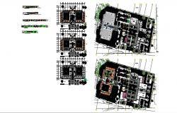 Plans of Public, Cultural and Commercial Plaza in Acolman cad drawing details dwg file