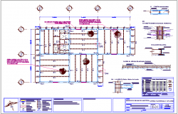 Plant  types of office and office club house structure view  for shopping center dwg file
